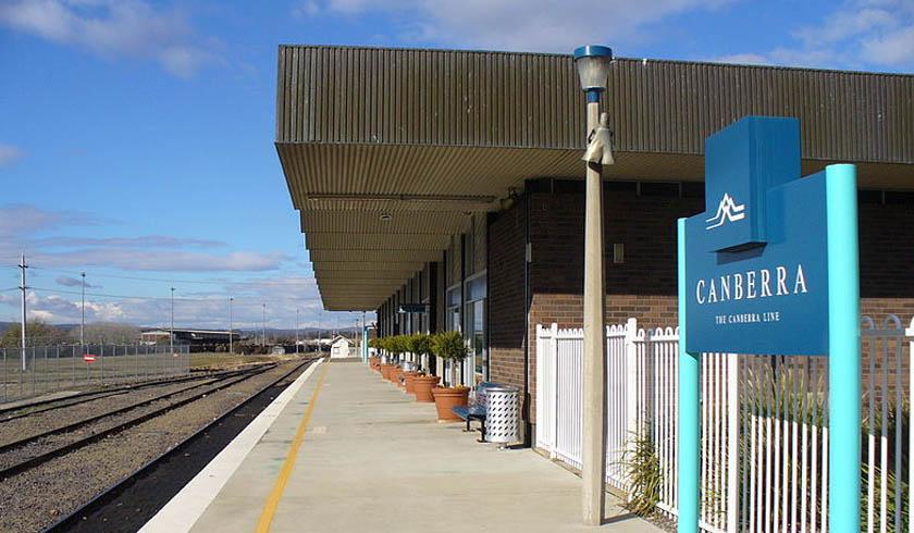 Canberra train station