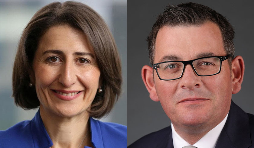 Gladys Berejiklian and Daniel Andrews