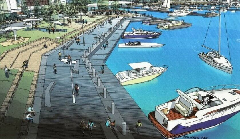 An artist's rendition of the Ocean Reef marina