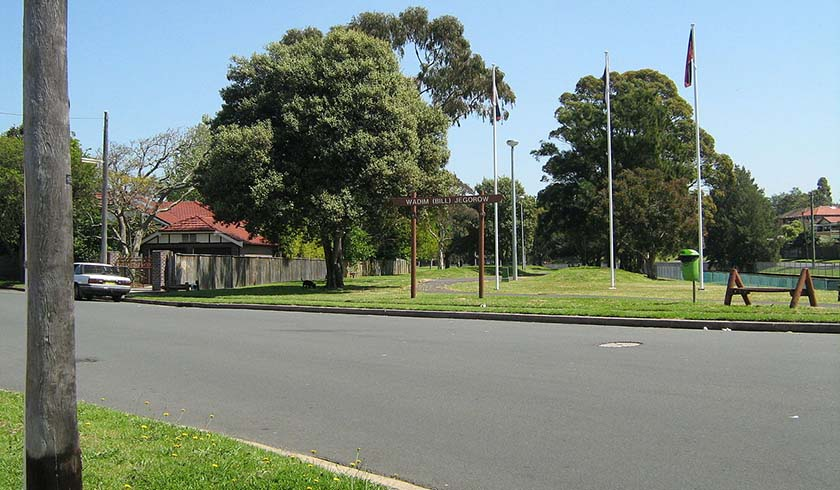 Wadim 'Bill' Jegorow Reserve at Wolesely Street, Haberfield