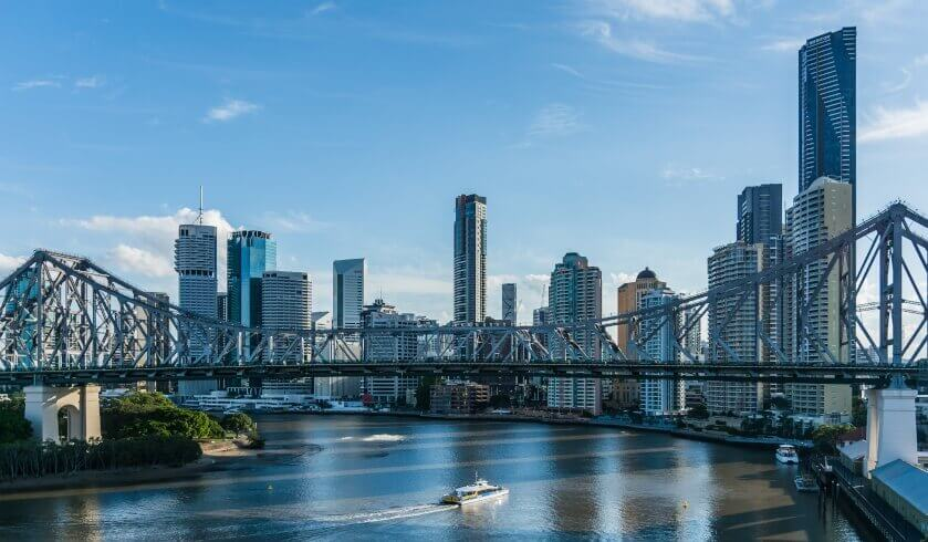 Skyline of Brisbane Australia