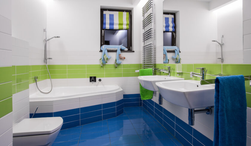 benefits of colourful bathrooms, renovation tips,