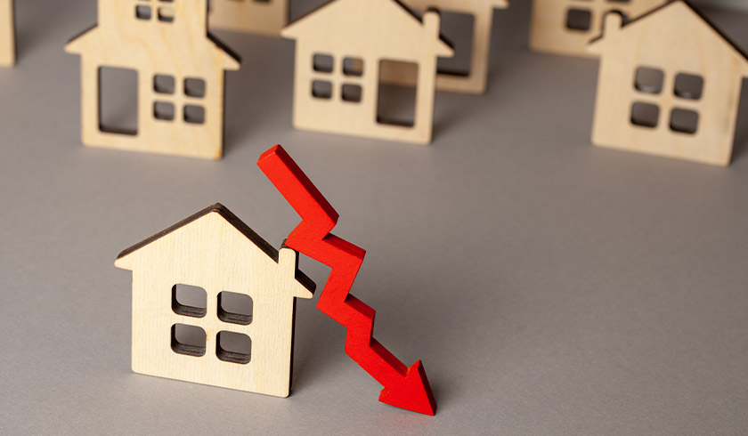 Property price fall