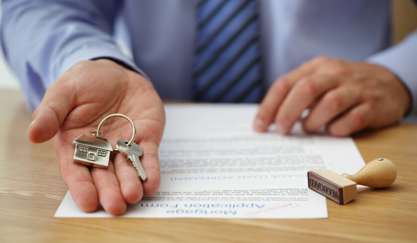 Property buyers, purchasing property, house keys