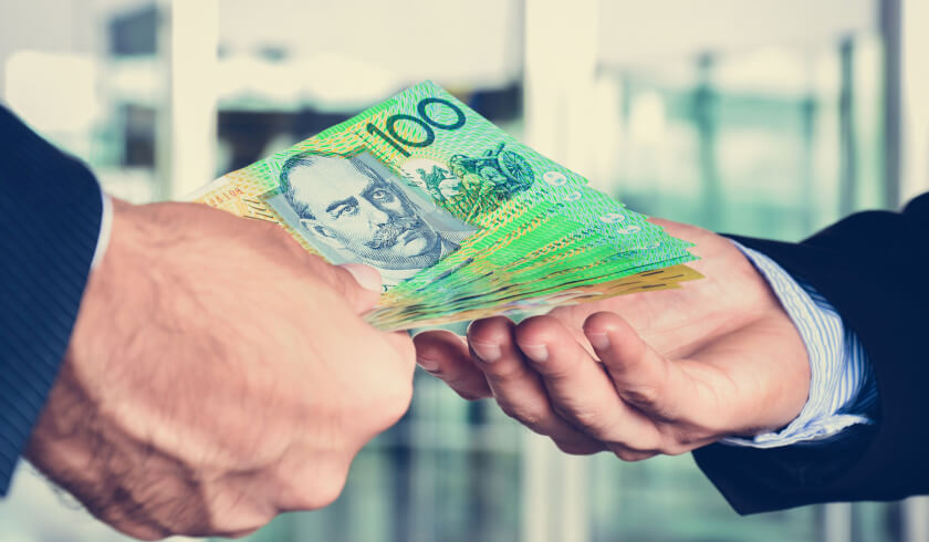 Passing of Australian dollars