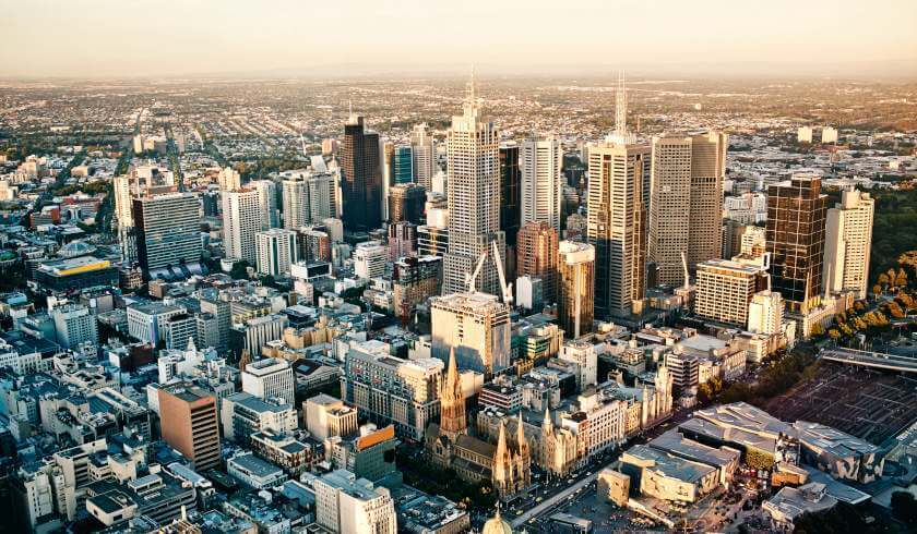 Melbourne, population hotspots