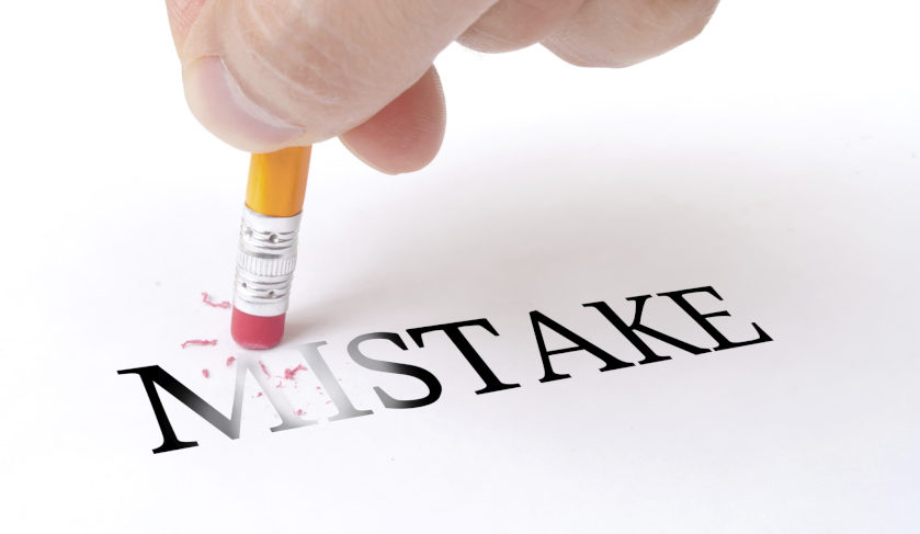 Erasing the word mistake