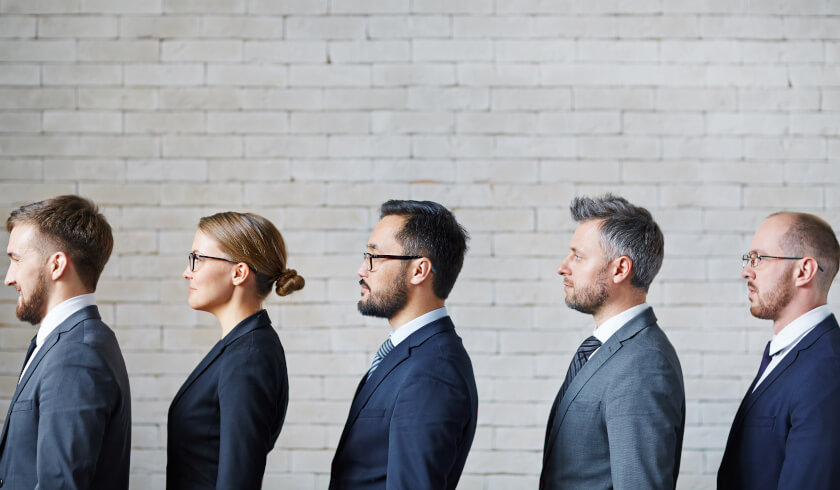 Five experts, investment tip, needed in your team, people in a suit