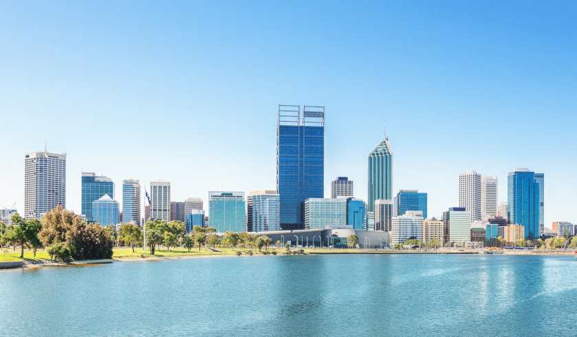 Perth skyline at noon