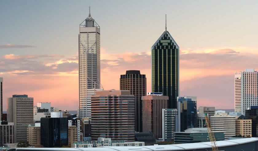 Perth skyline, median price, property investment, investing, property market