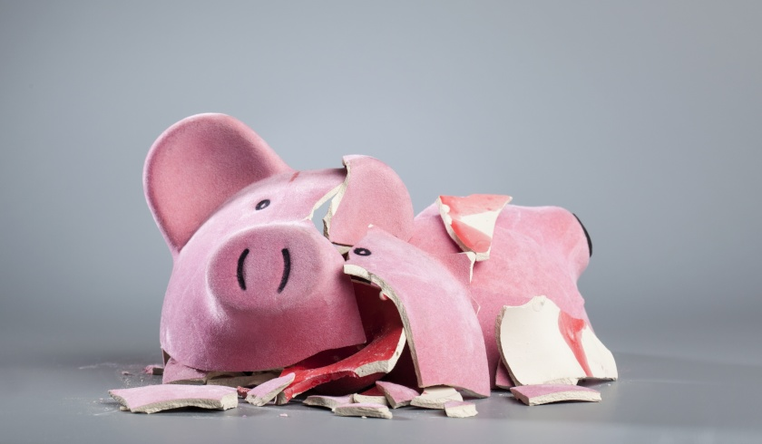 broken piggy bank, investing without budget, smart strategy