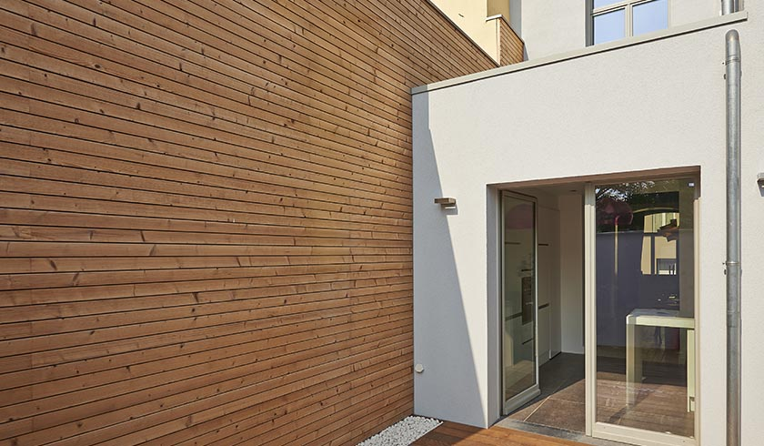 Wood cladding