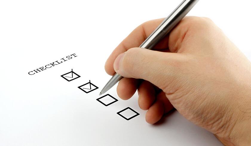 Checklist, guide