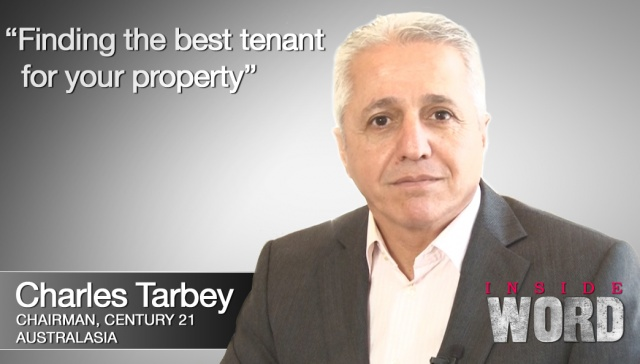Finding the best tenant for your property - Charles Tarbey,<p><strong>Charles Tarbey, Century 21 Australasia: Finding the best tenant for your property