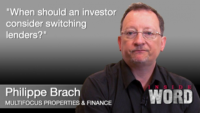 26 November - Philippe Brach,<p><strong>Philippe Brach, Multifocus Properties and Finance</strong>: When should an investor consider switching lenders?</p>