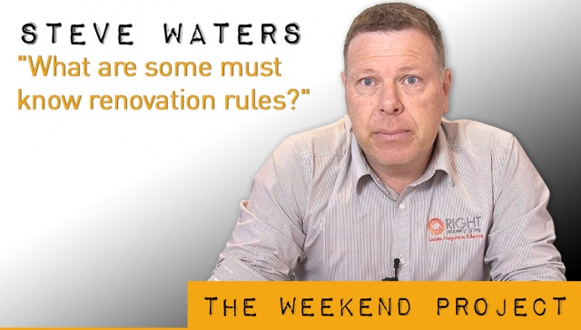 23 November 2012 - Steve Waters,<p><strong>Steve Waters, Managing Director, Right Property Group</strong>: What are some must know renovation rules?