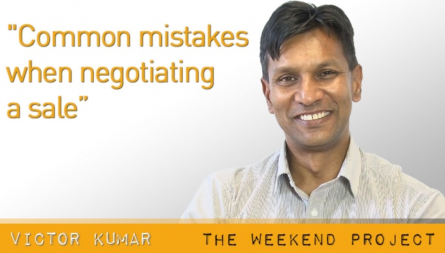Common mistakes when negotiating a sale,<p><strong>Victor Kumar, Common mistakes when negotiating a sale</strong></p>