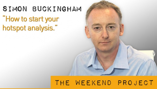 5 April 2013 - Simon Buckingham,<p><strong>Simon Buckingham, director, Results Mentoring: How to start your hotspot analysis<br /></strong></p>
