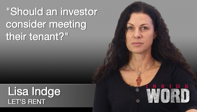 12 November - Lisa Indge,<p><strong>Lisa Indge, Managing Director, Let's Rent</strong>: Should an investor consider meeting their tenant?</p>