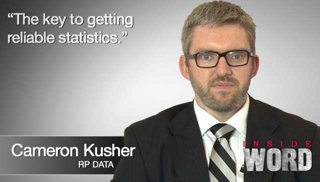 6 May 2013 - Cameron Kusher,<p><strong>Cameron Kusher, RP Data: The Key to getting reliable statistics <br /></strong></p>
